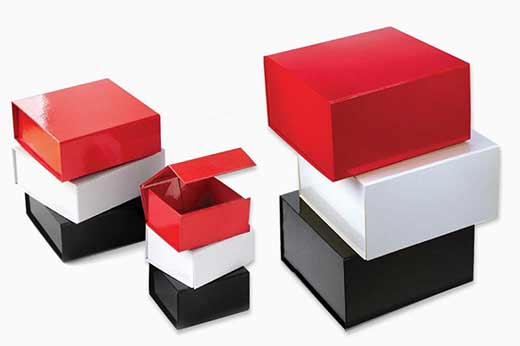 Glossy collapsible box
