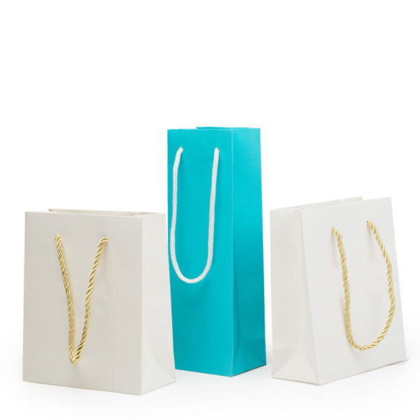 Plain printing jewelry packaging with nylon handle