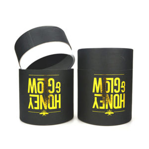 Wholesale Cardboard Cylinder Square Black Dyed Paper Tube Packaging Custom Hot Foil Logo Gift Box