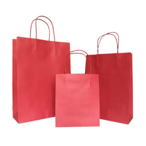 Plain Printed Kraft Paper Bag for Shop Packaging
