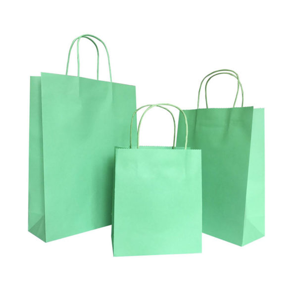 Handbags Printed Your Own Logo White Kraft Gift Craft Shopping Paper Bag with Paper Handles