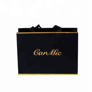 Custom Laminated Shopping Gift Packaging Paper Bags with Your Own Logo Carrier Handbags