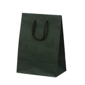 Plain printing kraft paper bag with cotton rope for shhopping packaging
