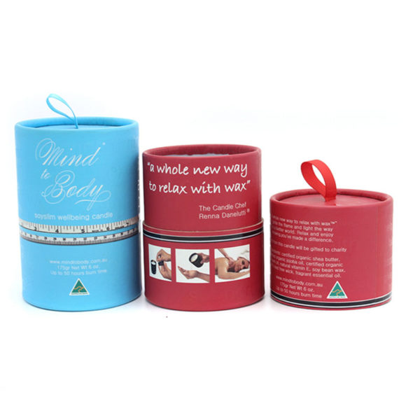 Custom Design Paper Cylinder Candle Gift Packaging Box Paper Tube Factory Directly