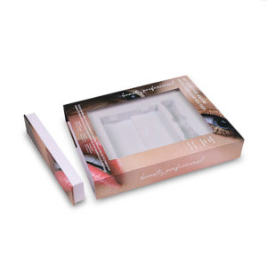 Customize Paper Folding Carton with PVC Insert for Cosmetic Gift Eyelash Packaging Box