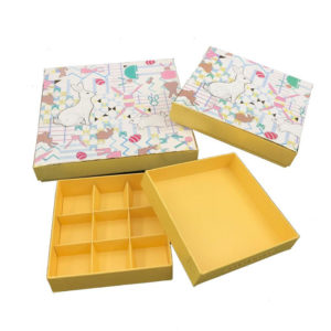 Custom Setup Chocolate Gift Packaging Box with Paper Dividers