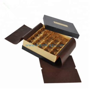 Hot Sale Hand Made Rigid Chocolate Gift Packaging Box with Proof Paper on Top