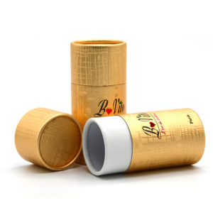 Custom Luxury Cylinder Recyclable Printed Cosmetic Cardboard Packaging Tube Gift Box