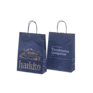 Custom One Bottle Gift Kraft Paper Bags for Wine Bottle Handbags