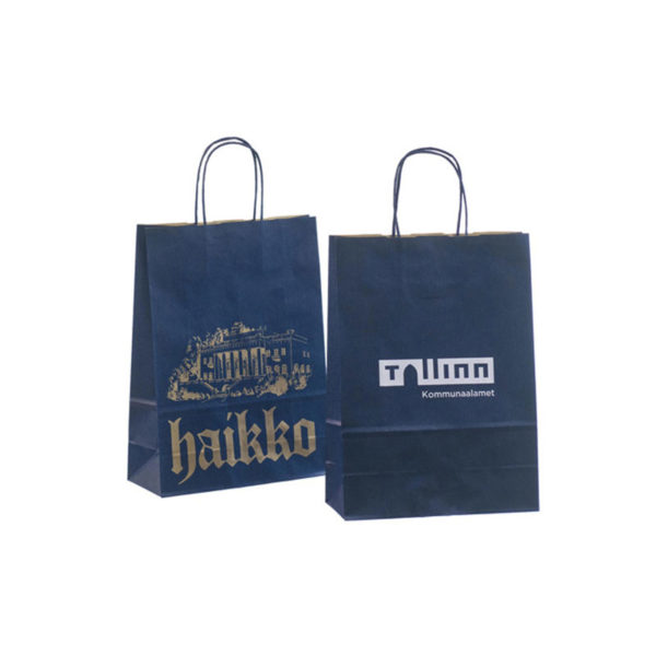 Promotion Eco Friendly Handbags Luxury Kraft Paper Gift Grocery Shopping Packing Bag with Handle