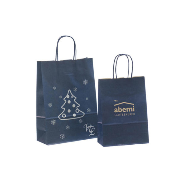 Hot Sale High Quality Handbags Kraft Gift Brown Paper Shopping Bag with Twisted Handle with Your Own Logo