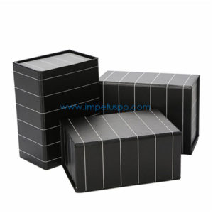 Factory Matt Black Foldable Magnetic Collapsible Storage Paper Gift Packaging Box Flat Packed