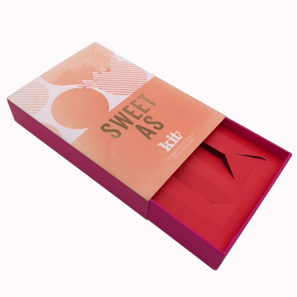 Custom Cardboard Cosmetic Paper Packaging Gift Box with Paper Inlay