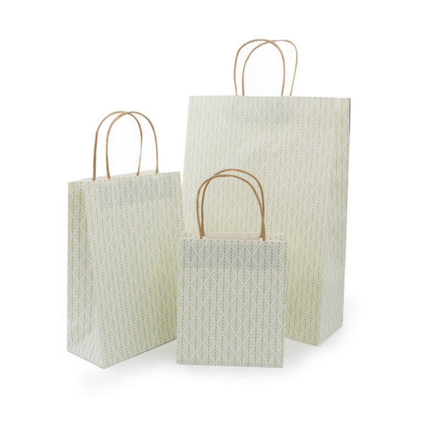 Factory Directly Price Handbags Custom Logo Printed Recyclable White Kraft Paper Gift Shopping Bag with Handle