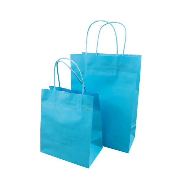 Different sizes of white kraft paper bags in stock