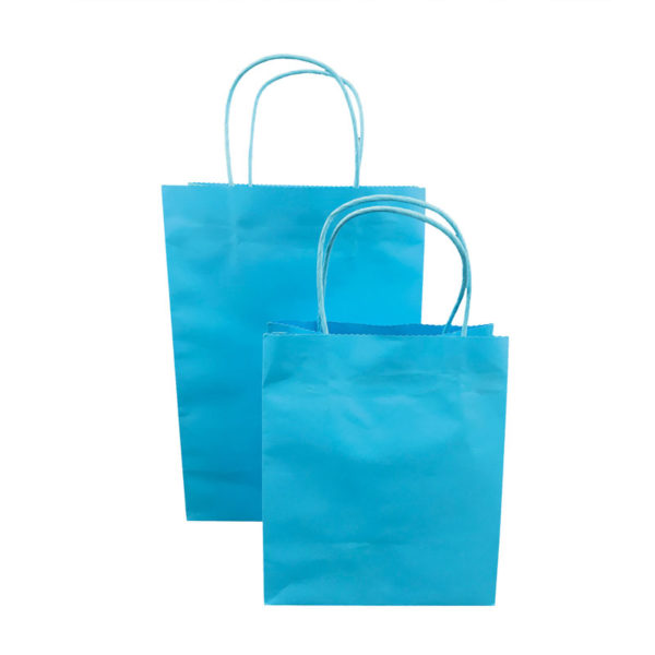 Printed white kraft paper bags with standard size