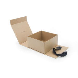 OEM Customized Kraft Paper Collapsible Gift Packaging Box with Ribbon Closure