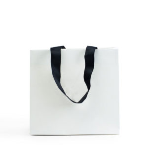 Luxury Plain Laminated Shopping Paper Bag Jewelry Packaging