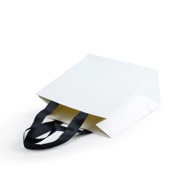 White Paper Bags with Handle for Jewellery Cosmetic Handbags Watch Packaging Christmas Gift Shopping Bag