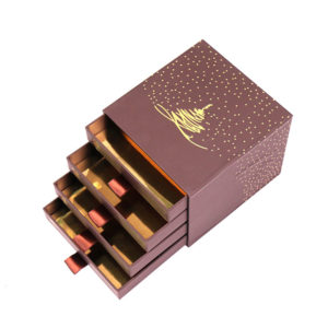 Customized Special Chocolate Packaging Cardboard Paper Gift Box with 4 Layers and Cardboard Inlay