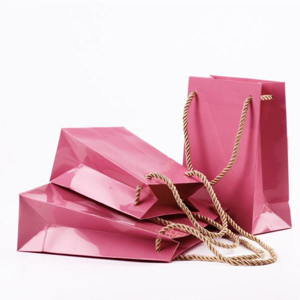 Wholesale Pink Shopping Packing Jewelry Bag