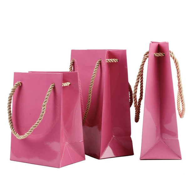 Plain Glossy Jewelry Packaging Shopping Bag