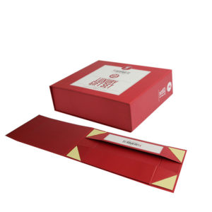 Magnet Folding Paper Flat Pack Box Luxury Magnetic Gift Packaging Box with Double Side Tapes