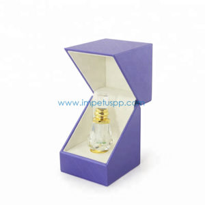 Rigid Leather Jewelry Gift Paper Packaging Box with Velet Insert