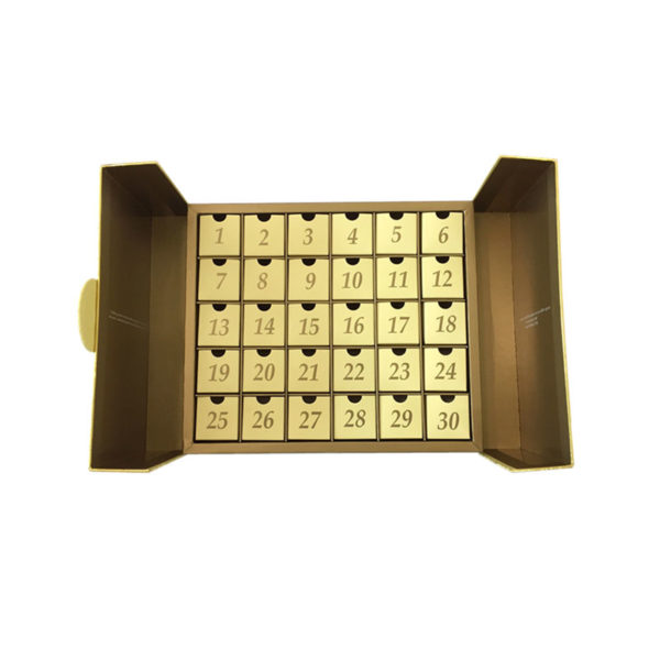 Customized Rigidboard Advent Calendar Gift Magnetic Box for Chocolate/Cosmetic Packaging