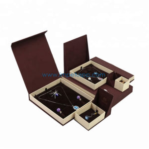Wholesale Custom Fancy Paper Packaging Jewelry Gift Box, Rigid Cardboard Box with Magnetic Closure